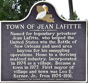 Town of Jean Lafitte plaque