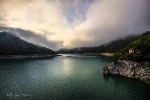 Dawn mist over Lake Turino mgpx