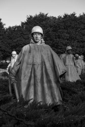 Korean War Memorial bw
