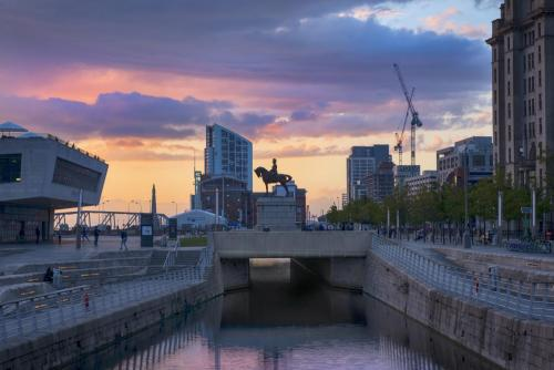 Liverpool Albert Docks sunset 3