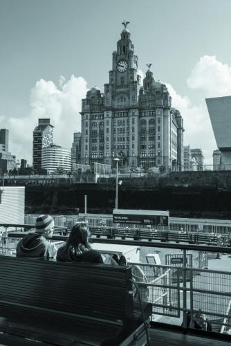 Liverpool ferry monochrome