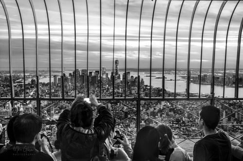 New York sunset from ESB BW 12x (1)