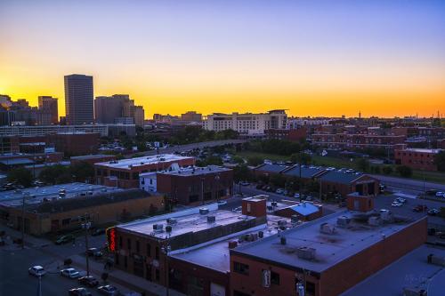 Oklahoma-Bricktown-sunset-12x