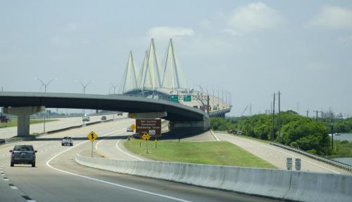 On the Road to San Antonio Monument and Battleship Texas