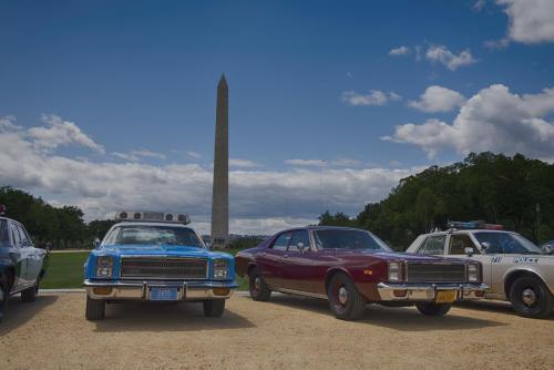 Police cars retro