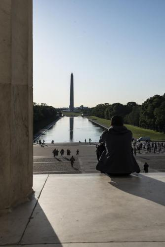 View of Mall from Lincoln Memorial